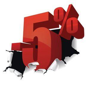 5 процентов